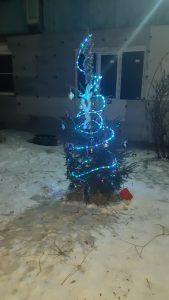 елка во дворе д Мокеево Герасимова Марина инвалид детства