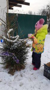 елка во дворе д Мокеево Герасимова Марина3