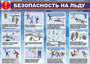 Правила безопасности при выходе на лед в разрешенный период.